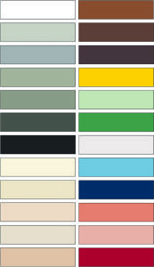 Colors disponibles per al material de col·locació Dekogrout