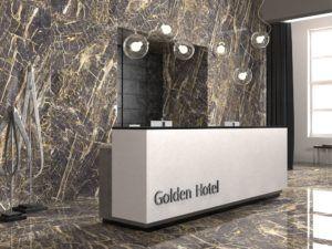 Black golden pulit imitació marbre