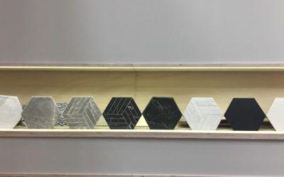 Oset presenta el Porcelánic hexagonal imitació pedra